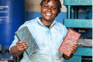 Kenyan Engineer made plastic bricks 5x stronger than concrete