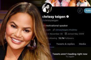 Chrissy Teigen deletes twitter