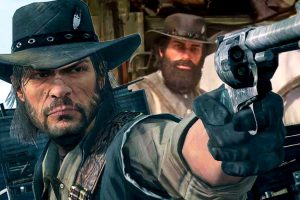 Red Dead redemption's John Marston can't swim!